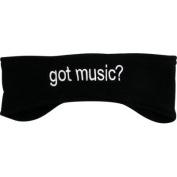 FLEECE HEADBAND GOT MUSIC BLACK
