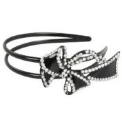 Kate Marie Stylish Headband with Cute Design Rhinestone Ornament