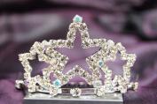 Beautiful New Bridal Wedding Tiara Crown W/ Crystal Star DH15722c