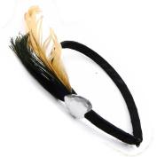 "Headband ""Cheyennes"" beige black."