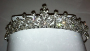 Bridal Wedding Tiara Pearls and Crystals Crown Promo Party 4599