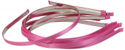 HipGirl 10pc Set Girls 0.6cm Satin Ribbon Lined Headbands