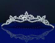 Bridal Wedding Tiara Comb With Three-Crystal Centre 42774