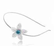 Turquoise Crystal Daisy Metal Headband