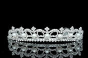 Bridal Rhinestone Crystal Pearl Prom Wedding Tiara Crown