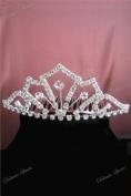 . Rhinestone Flowergirl Wedding Bridal Prom Bridesmaids Tiara Hair Comb