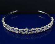 SC Bridal Wedding Tiara Headband With Pearls and Crystals 55916