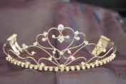 Beautiful Bridal Wedding Tiara Gold Crown with Crystal Party Accessories DH12303
