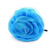 "Headband 'french touch' ""Sissi"" blue."