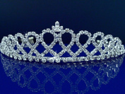 Bridal Tiara,Princess Tiara With Crystal Loops 24426