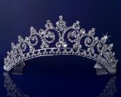 Rhinestones Crystal Wedding Bridal Pageant Princess Tiara Crown 3150