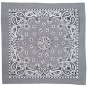Charcoal Paisley Stylish Cotton Bandana