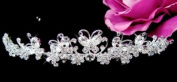 . Crystal Butterfly Wedding Bridal Tiara