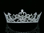 Bridal Wedding Pageant Queen Rhinestone Crystal Full Tiara Crown