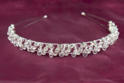 Beaded. Crystal Rhinestone Tiara Wedding Bridal Prom Party Headband New