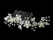 Autumn Rhinestone & Pearl Bridal Comb