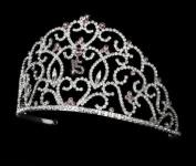 Kat. Crystal Amethyst Quinceanera Sweet 15 Tiara