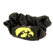 University of Iowa Hawkeyes Black Hair Scrunchie - Hair Twist - Ponytail Holder