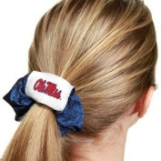 Mississippi Rebels Blue Hair Scrunchie - Hair Twist - Ponytail Holder