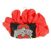 Ohio State Buckeyes Red Hair Scrunchie - Hair Twist - Ponytail Holder