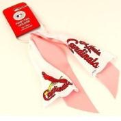 MLB St. Louis Cardinals Pink White Ponytail Holder
