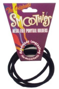 Smoothies Regular Metal Free Pony Tail Holders - Black