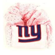 Pink New York Giants Hair Twist/scrunchy