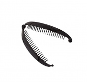 Caravan French Black Banana Clip With Ball Closure