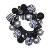 Caravan Faceted Ab And Coloured Beads Plus Threaded Beads Enhance This Elastic Pony