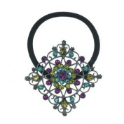 Multi-Colour Crystal Instant Glamour Ponytail Holder