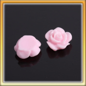 Stylish Pink Rose Resin Nail Art Design DIY Sticker NEW 10PCS B0011