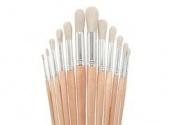 Value Line Bristle Brush Round Set of 12