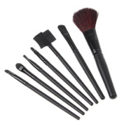 7 PCS Makeup Brush Set + Black Pouch Bag