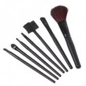 7 PCS Makeup Brush Set + Black Pouch Bag