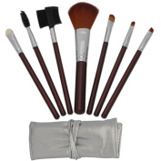 7pcs Brown Professional Cosmetic Brushes and Case