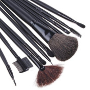 12 PCS Makeup Brush Set + Black Pouch Bag