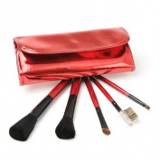 IQ Natural Exclusive 5pc Red Brush Set. Get a Free Case Today (limited)under 10 Bucks!