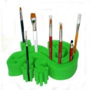 Snazaroo Gecko Sponge Brush Holders, Green
