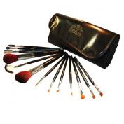 Bellus 13 Piece Makeup Brush Set and Case