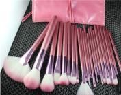 Crazy Cart 22Pcs Professional Cosmetic Makeup Brush Set With Pink Bag