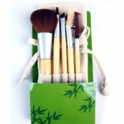 Elixir Beauty Cala Studio Pro Makeup Cosmetic Professional Bamboo Make-up Brush Set Kit with Case, 5pc
