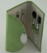 LIME GREEN MAKE-UP BRUSHES, SET/5,