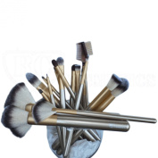 Gold Rush Professional Full Make Up Brush Set 18 piece From Royal Care Cosmetics