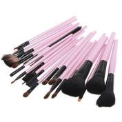 Kingmys 23 Pcs Professional Studio Makeup Cosmetic Brush Set +Pouch Case Pink