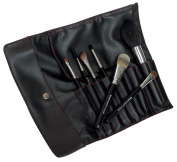 Royal & Langnickel Silk Pro 7-Piece Professional Cosmetic Brush Set in a Pro Quality Faux Leather Brush Wrap
