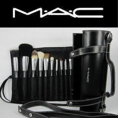 16 pcs professional cosmetic m a c makeup brushes set with pu leather cover by m a c shop. Black Bedroom Furniture Sets. Home Design Ideas