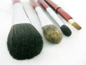 Ai (Love) * Japanese Natural makeup 4 pcs brush set - Red handles -