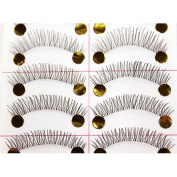 New Thin 10 Pair Natural Black Long Fake False Eyelashes Eye Lash Makeup