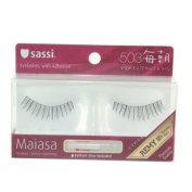Sassi False Eyelashes 100% Human Hair, Free Glue #503