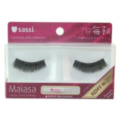 Sassi False Eyelashes 100% Human Hair, Free Glue-#79